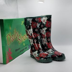 Daily Shoes Floral Rain Boots size 9m